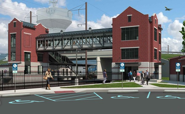 Rendering of new station on Ann St. at Route 230