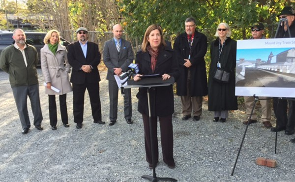 PennDOT Secretary Leslie S. Richards, 10-2016 groundbreaking