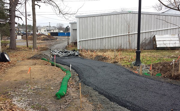 Pathway being paved, December 2014