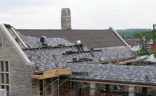 Replacing the historic slate roof