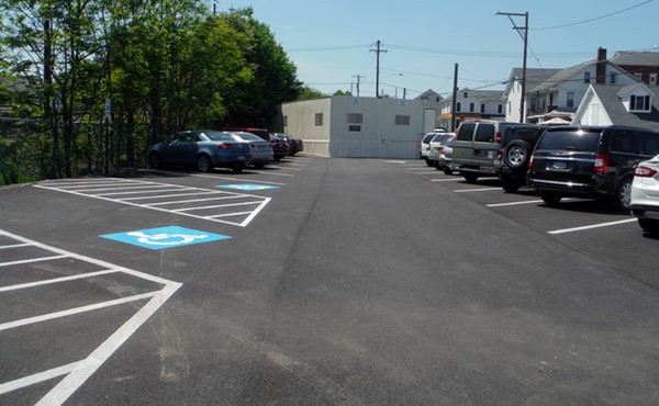 AFTER: Lot repaved and repainted
