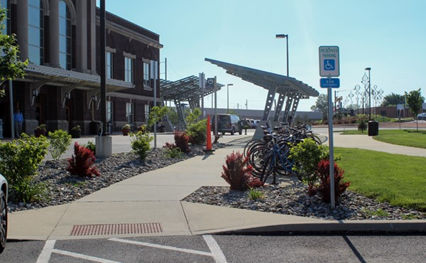 Bicycle racks, passenger shelters, and ADA sidewalks and parking