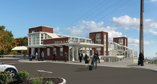 Rendering of improvements from north parking lot