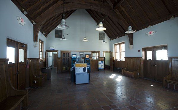 Restored station interior