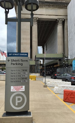 Parking rate sign