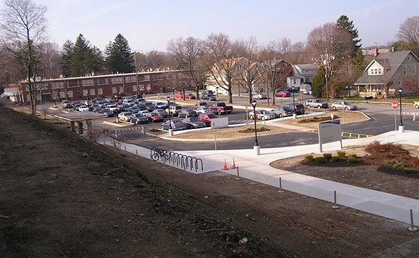 Parking lot and sidewalk improvements completed