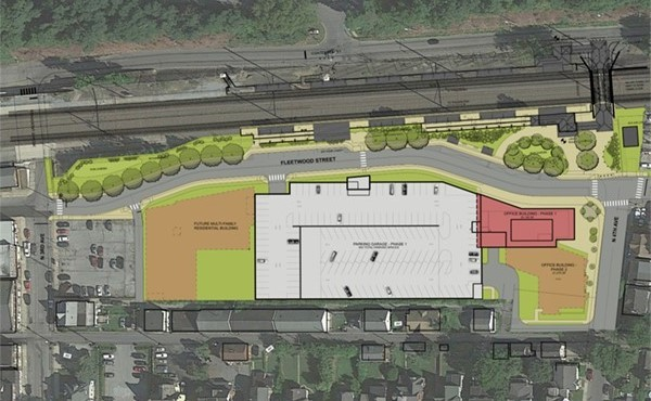 Site plan of parking facility and Fleetwood Street redevelopment