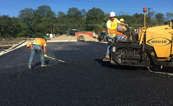 Paving eastbound parking lot (October 2017)