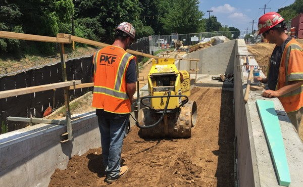 Compacting fill (July 2018)