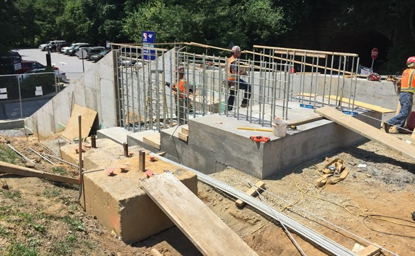 Rebar for stair walls (July 2018)