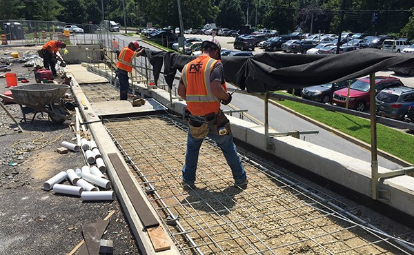 Installing rebar for eastbound ramp (August 2018)
