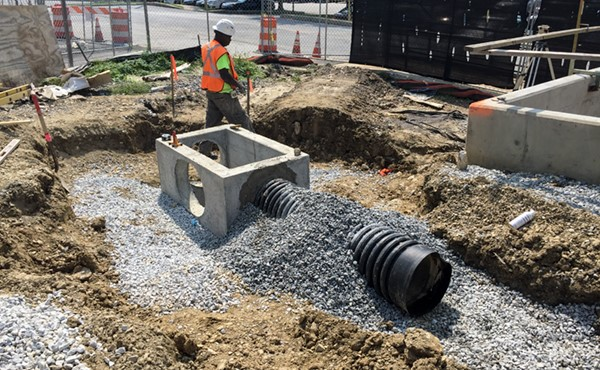 Installing a stormwater inlet and piping (September 2017)