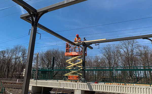 Installing wood nailer plate onto platform canopy steel (March 2019)