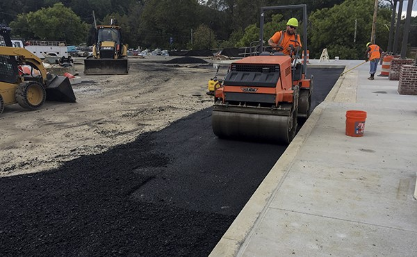 Paving eastbound parking lot (October 2018)