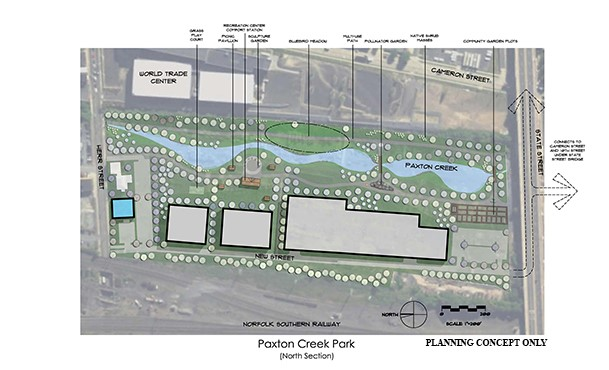 Paxton Creek Park north section concept (February 2018)