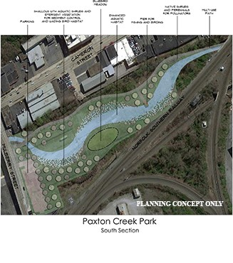 Paxton Creek Park south section concept (February 2018)