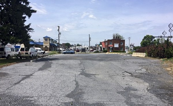 BEFORE: Christian Street lot looking south (June 2020)