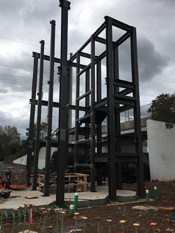 North tower structural steel in progress (October 2020)