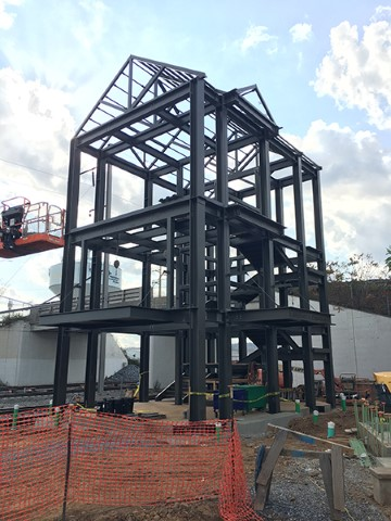 North tower structural steel (October 2020)
