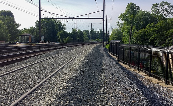 Ballast smoothed to top of rail (June 2019)