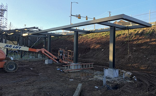 Structural steel for bicycle canopy (December 2020)