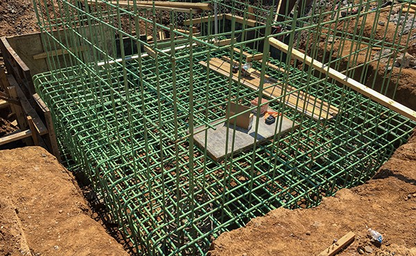 Rebar for north tower elevator pit (August 2020)