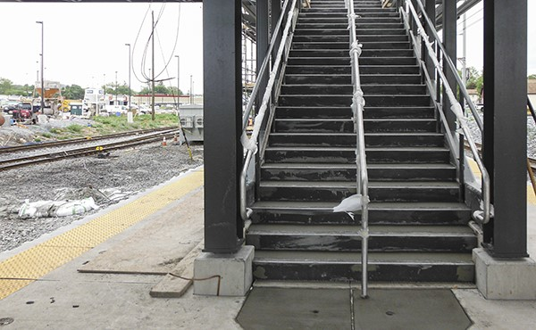 Stairs to center platform (May 2021)