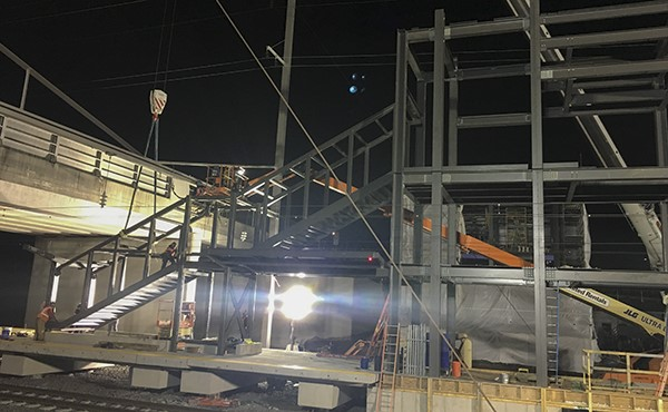 Structural steel for south tower stairs (January 2021)