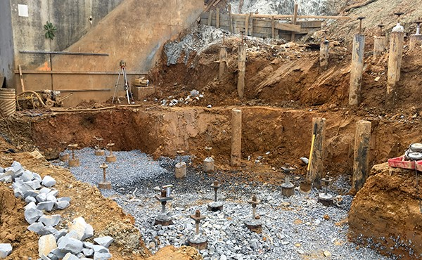 Excavation for north tower footer (September 2018)
