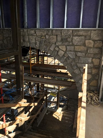 Stone veneer inside south tower (Sept 2018)