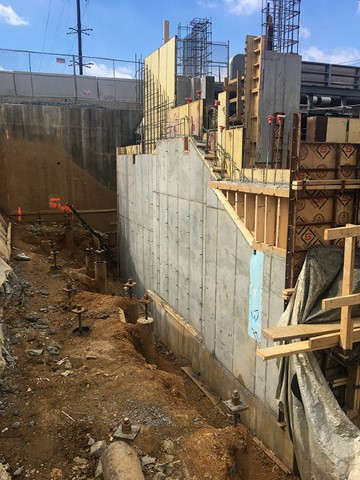 Placement of intermediate wall (March 2018)