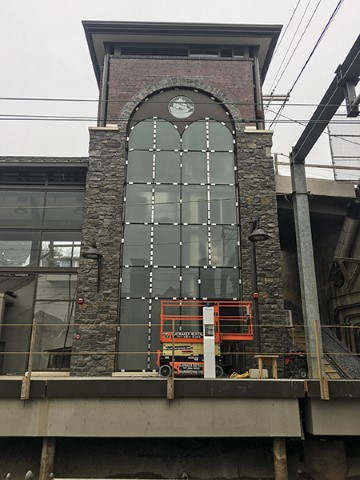 North side of south tower (November 2018)