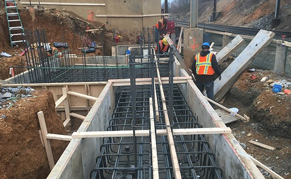 Forming south tower footer and elevator pit (December 2017)