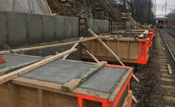 Formwork for eastbound platform beams (November 2017)