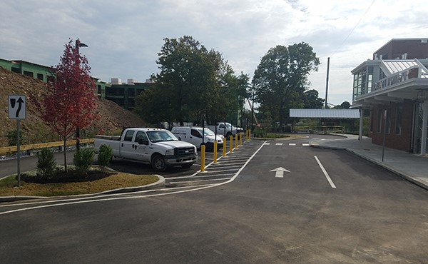 The north lot open to traffic (September 2019)