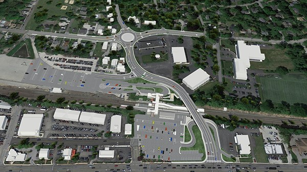 Rendering of Phase 2 roadway improvements