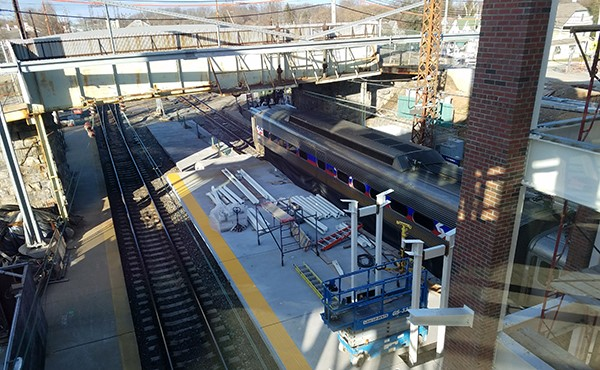 Structural steel for center platform canopy (January 2019)