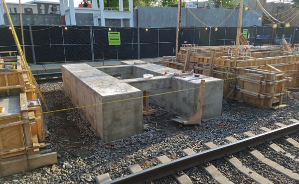 Center platform foundation (May 2018)