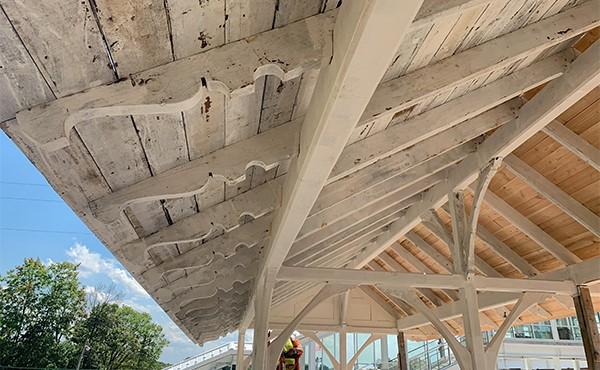 Underside of historic canopy (August 2019)