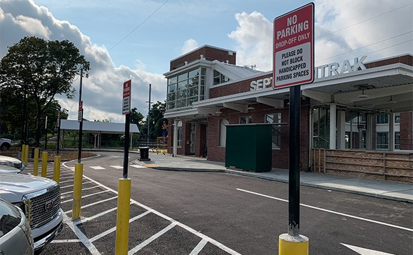 Parking signage installed at north lot (August 2019)