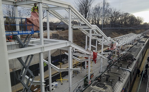 Structural steel for center platform stairs and canopy (December 2018)
