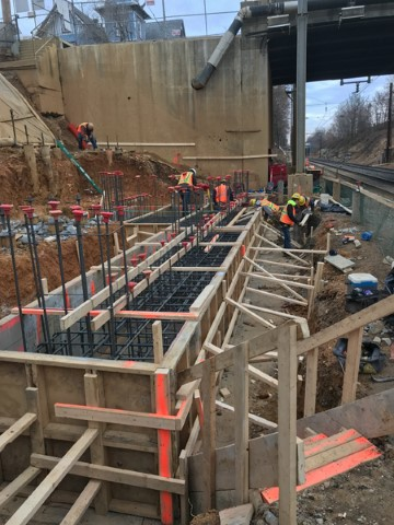 Forming south tower footer (Dec 2017)