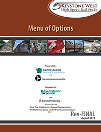 Thumbnail image of the Keystone West Feasibility Report & Service Development Plan Menu of Options cover.