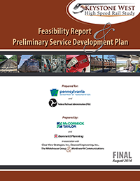Thumbnail image of the Keystone West Feasibility Report & Service Development Plan report cover.