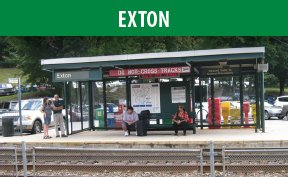 Exton Station image with link to the Exton page