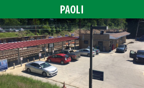 Paoli Station image with link to the Paoli page